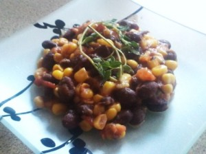 Corn, Black Beans, and Tomatoes